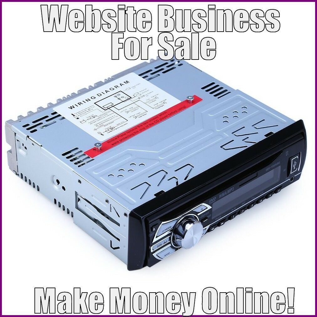 Fully Stocked CAR ELECTRONICS Website Business|FREE Domain|FREE Hosting|Traffic
