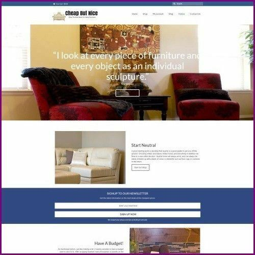 Fully Stocked Dropshipping HOME FURNITURE Website Business For Sale + Domain