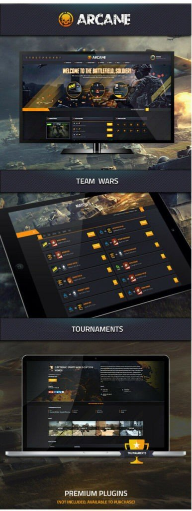 Gaming Tournament WebSite with Faceit/ESL like functions | Video Games