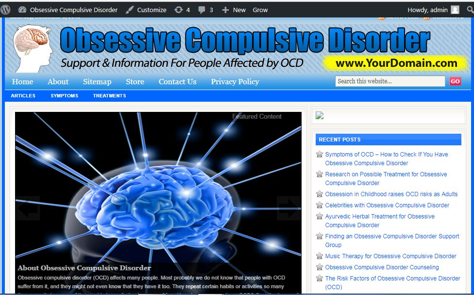 Great Obsessive Compulsive Disorder Store Website Free Installation+Free Hosting