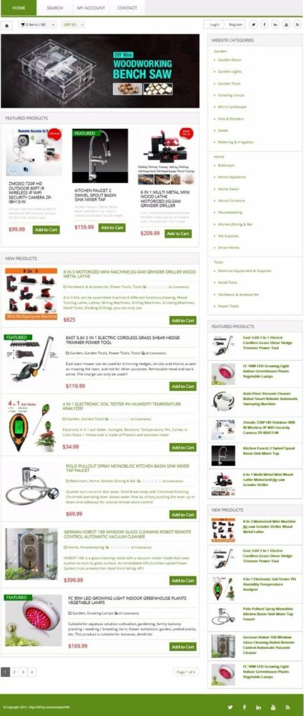 HOME & GARDEN TOOLS SHOP WEBSITE BUSINESS FOR SALE! DROPSHIPPING SOURCE INCLUDED