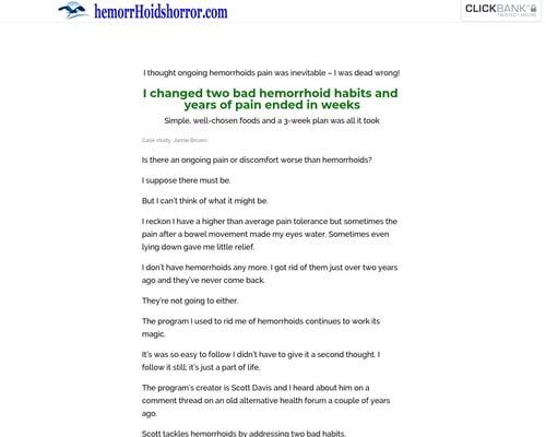 Hemorrhoids Case Study cb   Hemorrhoids Horror