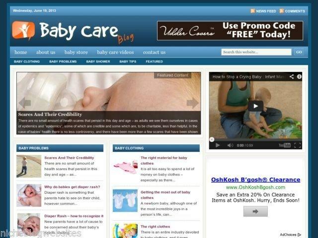 Hot Baby Care / Newborn Health Tips Niche Blog Website For Sale!