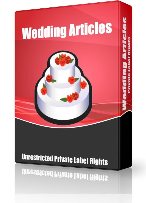 I will provide you Top Quality 1600 Wedding PLR Article Pack