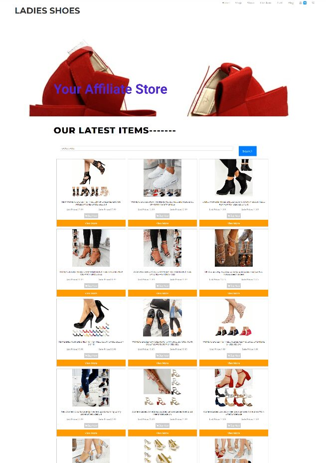 LADIES SHOES ECOMMERCE WEBSITE - NEW DOMAIN - EASY TO RUN