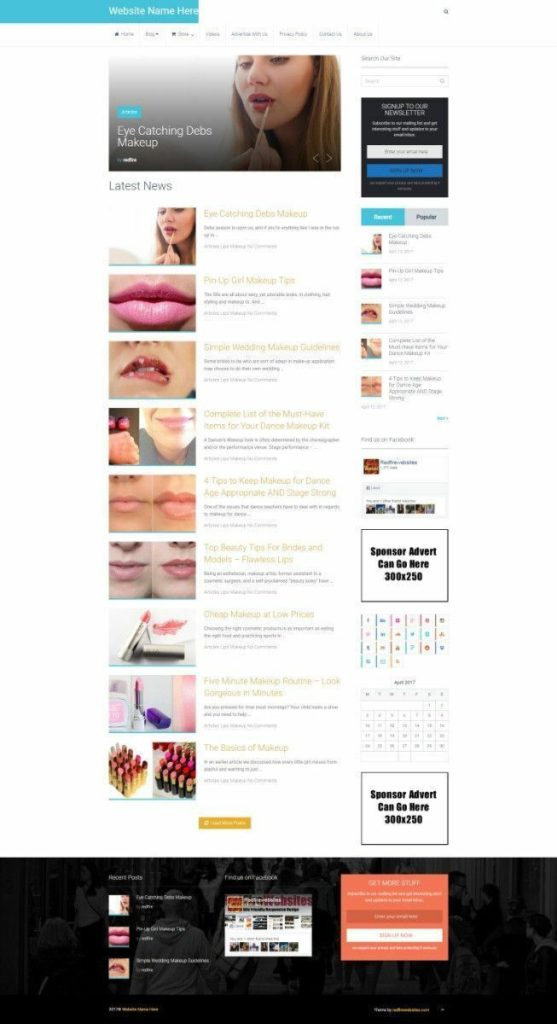 MAKEUP ONLINE STORE - Work From Home Business Website For Sale + Domain + Host