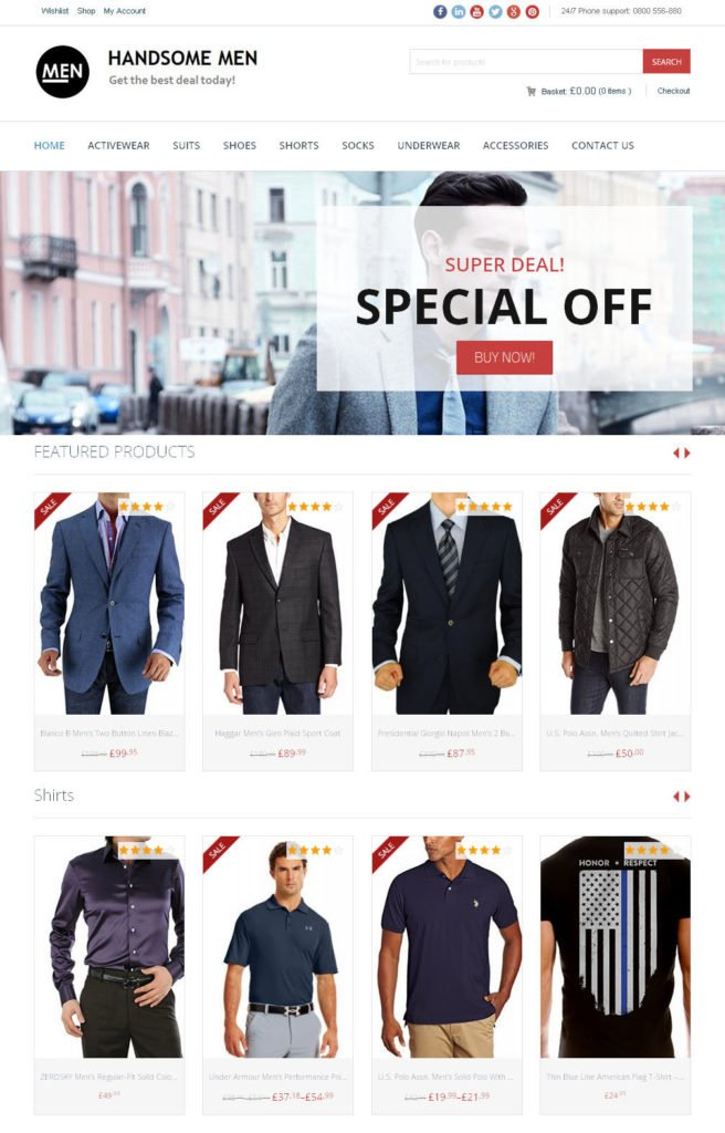 Men's Clothing Store - Custom Amazon Affiliate Website + eCommerce