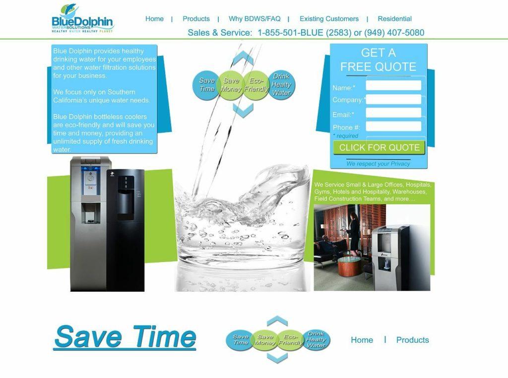 Mineral Water Web Design, Mineral Water Website Design