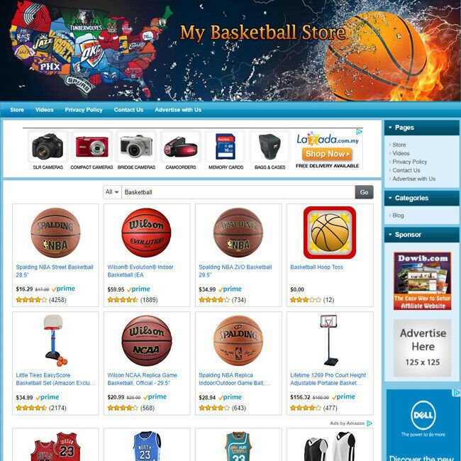 NBA BASKETBALL STORE - Online Business Website For Sale! FREE Domain + Hosting!