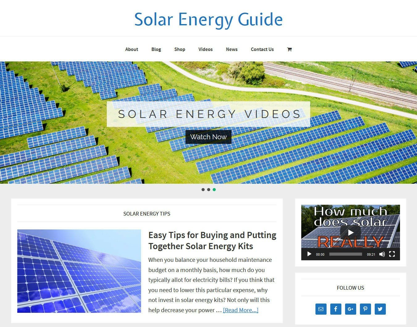 [NEW DESIGN] * SOLAR ENERGY * store blog website business for sale AUTO CONTENT