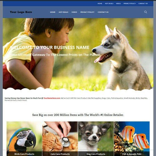 Online Pet Care Store Website Business For Sale! Million Item Make Money Fast!