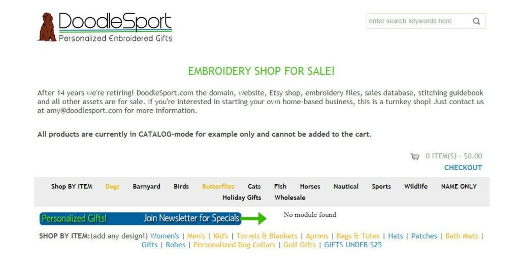Online Pet & Hobby Embroidery Store - Web site, Etsy Shop, Customers and More