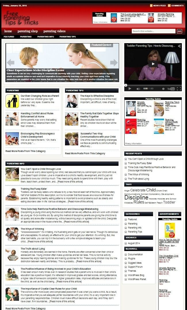 PARENTING HELP WEBSITE BUSINESS FOR SALE! WITH CONTENT FOR SEO!