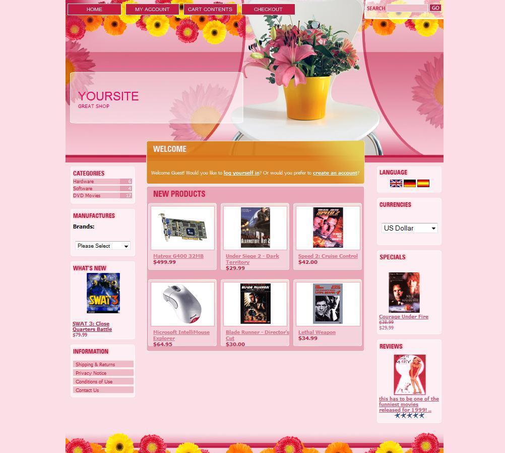 PREMIUM ECOMMERCE FLOWERS SHOP STORE SHOPPING CART WEBSITE