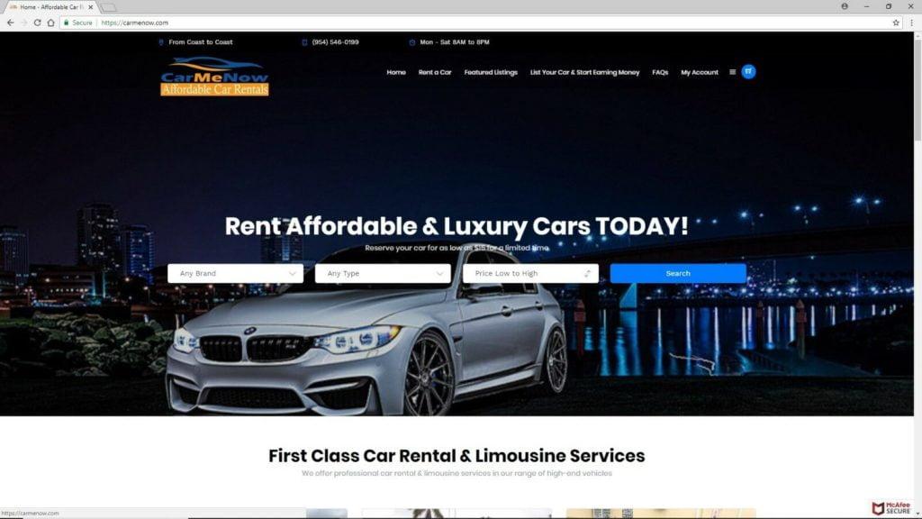 Peer-to-Peer car rental ride sharing website