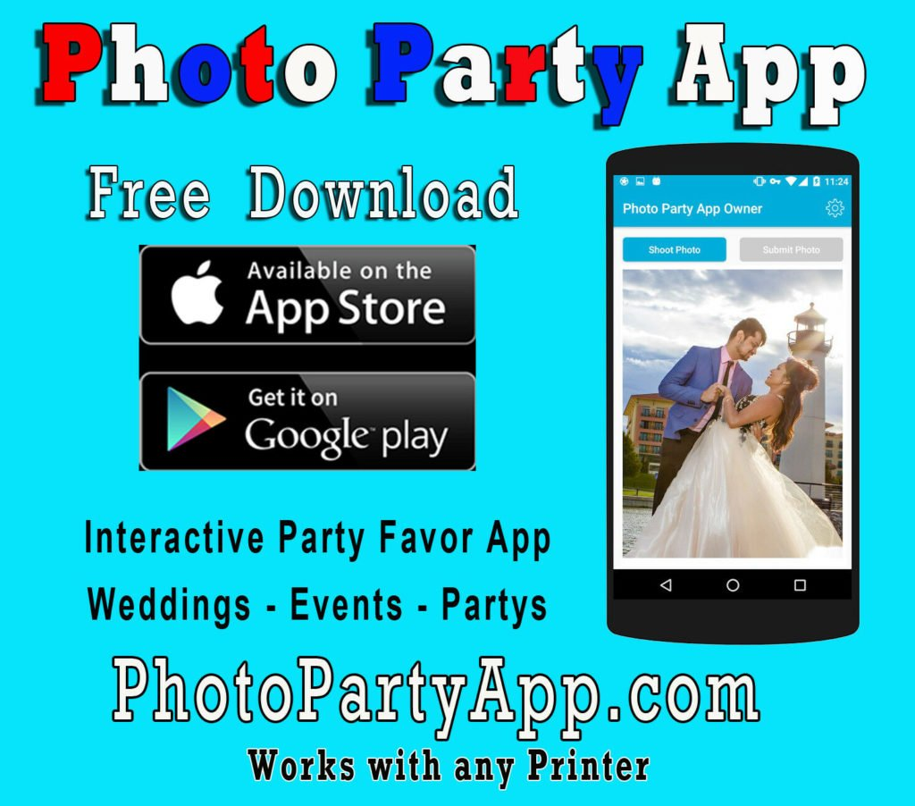 Photo Party App Mobile Device Event $$$ Maker DNP Sony Epson Mitsubishi printer.