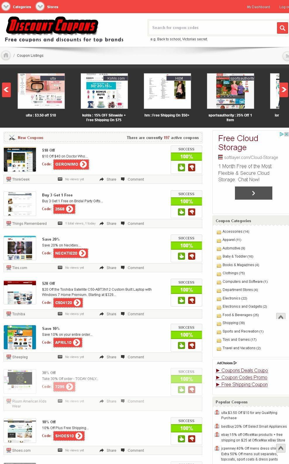 Premium Coupons Website - Runs on AutoPilot - Free Installation + Hosting + SSL