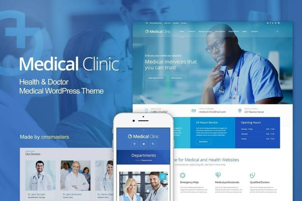 Premium Medical Clinic WordPress Website With FREE HOSTING & LOGO