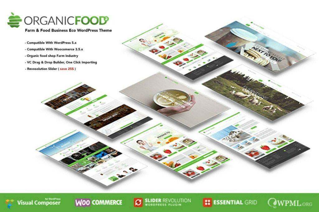 Premium Organic Food Business Eco WordPress Site With FREE HOSTING