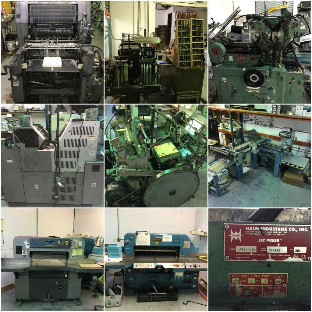 Print Shop for sale - Sheet-fed offset presses, Prepress, bindery