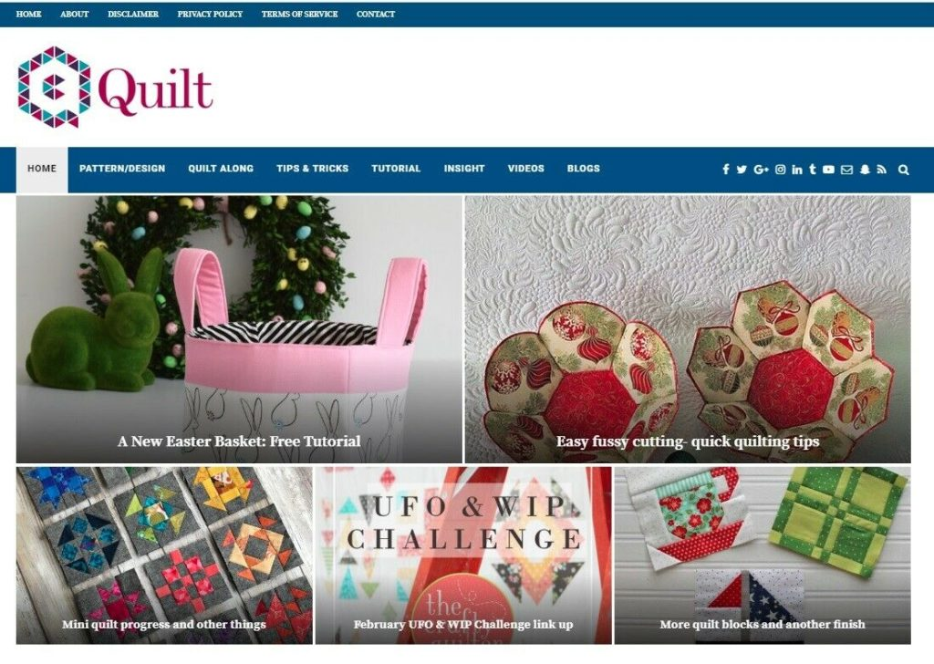 Quilting Automated Wordpress Website - Turnkey Site