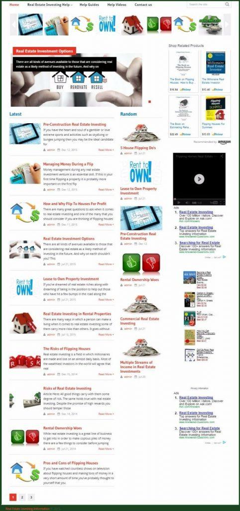 REAL ESTATE INVESTING BLOG WEBSITE BUSINESS FOR SALE! MOBILE RESPONSIVE DESIGN