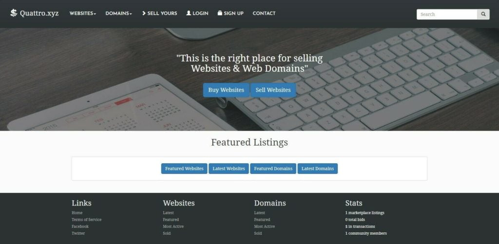 REAL Established Domain Name and Website Marketplace for sale, Flippa Clone
