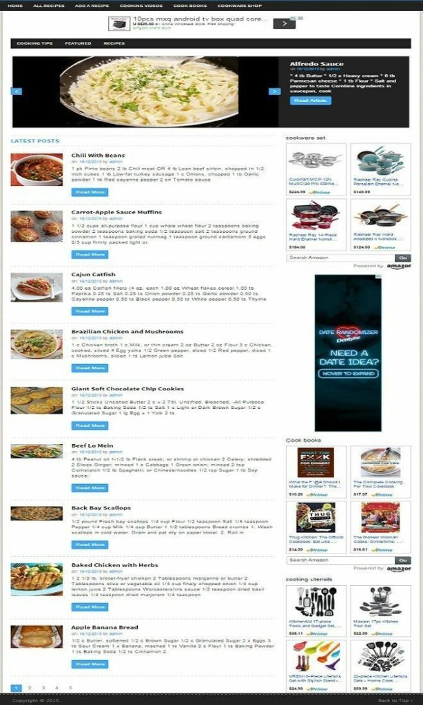 RECIPE EXCHANGE MEMBERSHIP WEBSITE BUSINESS FOR SALE! RESPONSIVE DESIGN