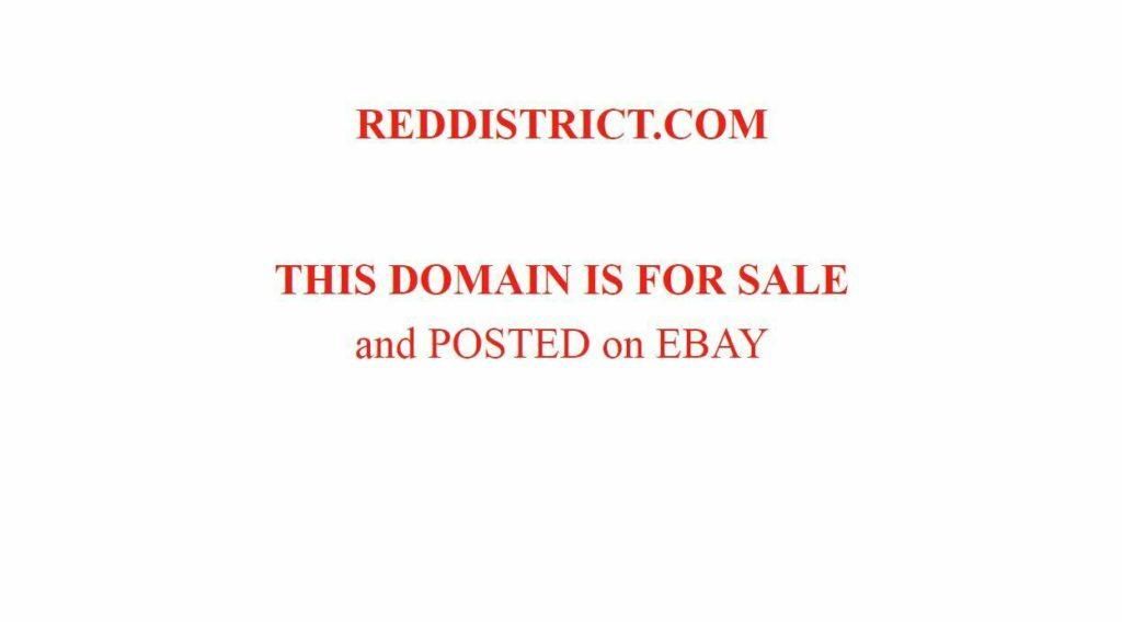 REDDISTRICT.COM Excellent name brand, use your imagination