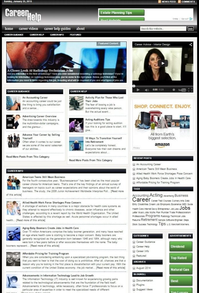 RESUME and CAREER HELP BLOG WEBSITE BUSINESS FOR SALE! TARGETED CONTENT INCLUDED