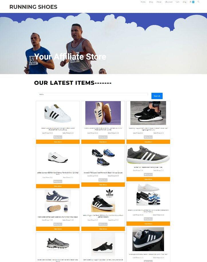 RUNNING SHOES WEBSITE - NEW DOMAIN + HOSTING ECOMMERCE