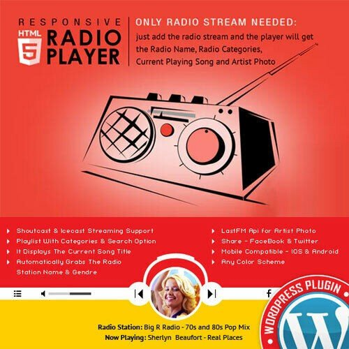Radio Player ⭐ Shoutcast & Icecast ⭐ Plugin Wordpress ⭐ Lastest Version