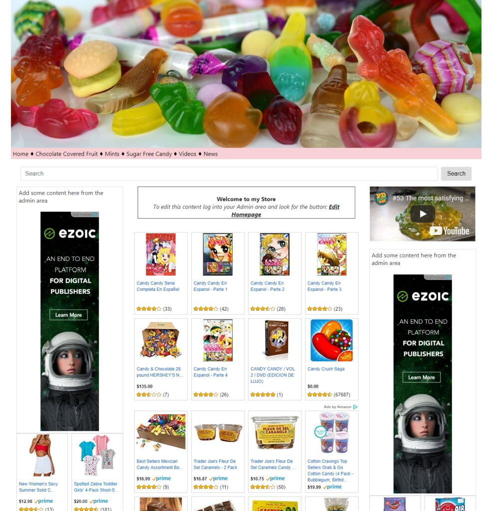 Ready Made Candy Supplies Affiliate Store Make Cash on Autopilot