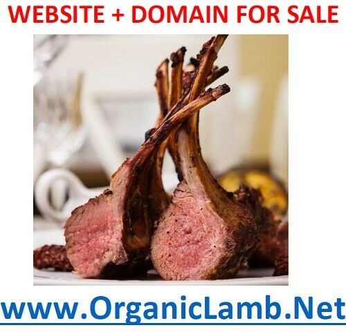 ~~ Ready Website + Domain for SALE ~~ www.OrganicLamb.Net~ Natural, Organic Meat
