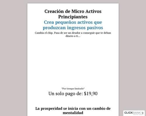 Recibe Ingresos Pasivos de tus Activos - Crear Activos