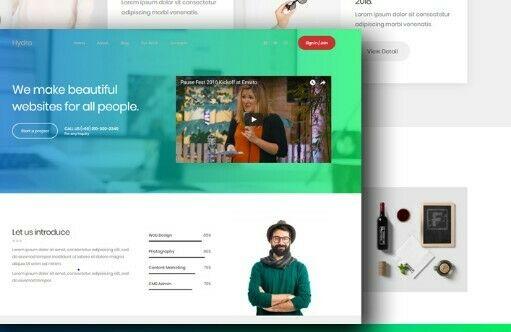 Responsive HTML Template Website