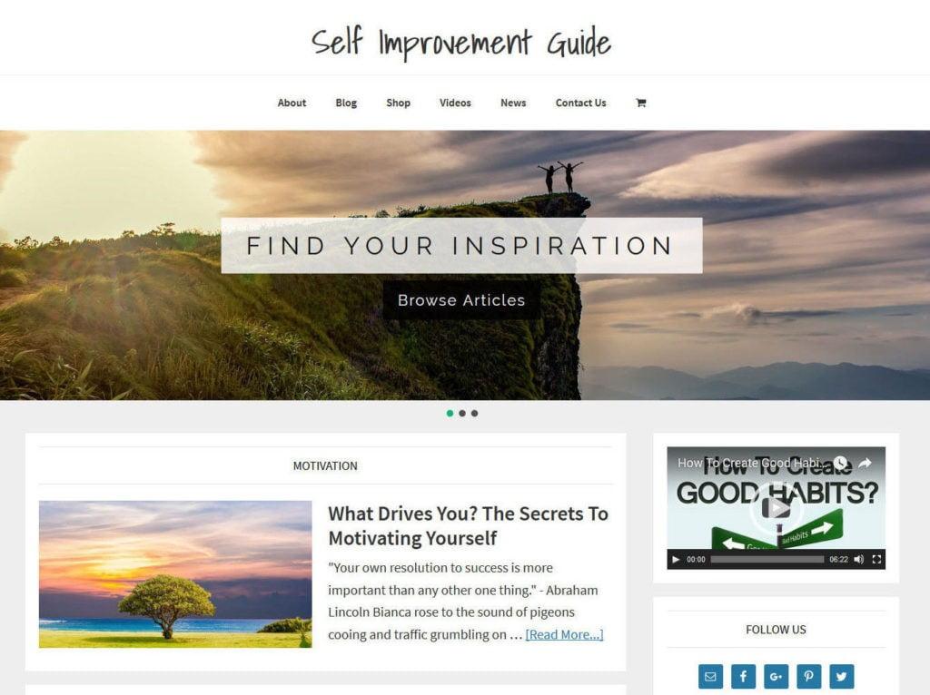 * SELF IMPROVEMENT * blog store premade website business for sale AUTO CONTENT!