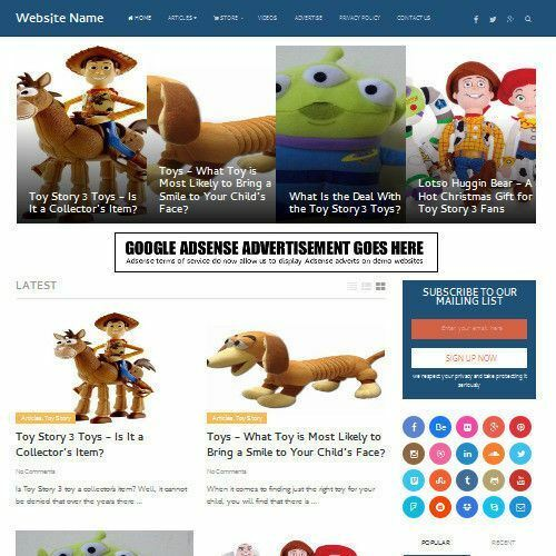 SOFT TOYS STORE - Fully Stocked Online Business Affiliate Website For Sale