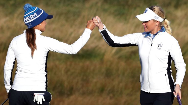 Azahara Munoz and Charley Hull earned their second win together