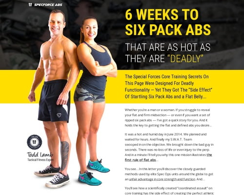 "SpecForce Abs - 6 WEEKS TO SIX PACK ABS THAT ARE AS HOT AS THEY ARE ""DEADLY"""