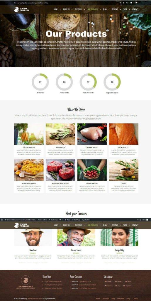Standalone gourmet niche domain name + Blog site ecommerce discountgourmetfood