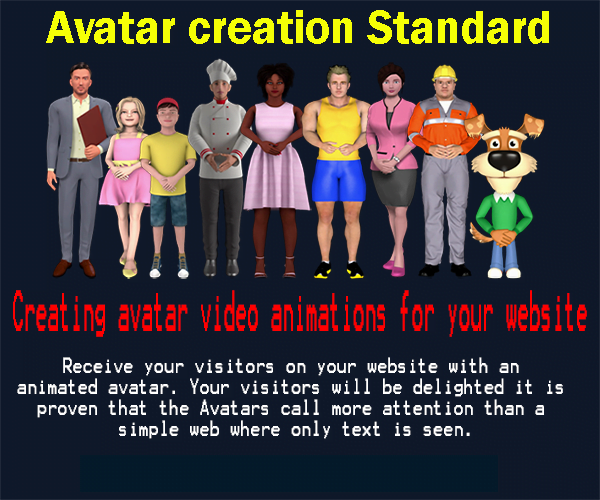 Standard avatar creation for your website