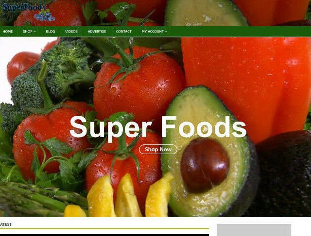 Super Foods Website With Video, Blog, Social,Seo - Work From Home SALE ITEM