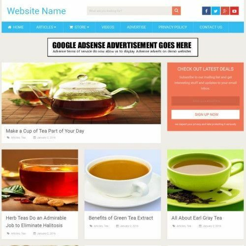 TEA STORE - Work From Home Online Business Website For Sale + Domain + Hosting
