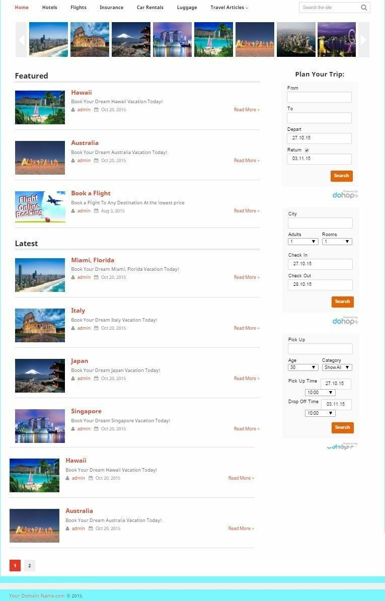TRAVEL PLANNING WEBSITE BUSINESS FOR SALE!100% AUTOMATED! MOBILE FRIENDLY DESIGN
