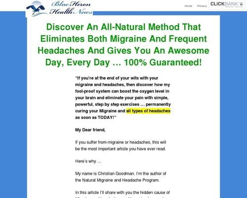 The Migraine And Headache Program! - Blue Heron Health News