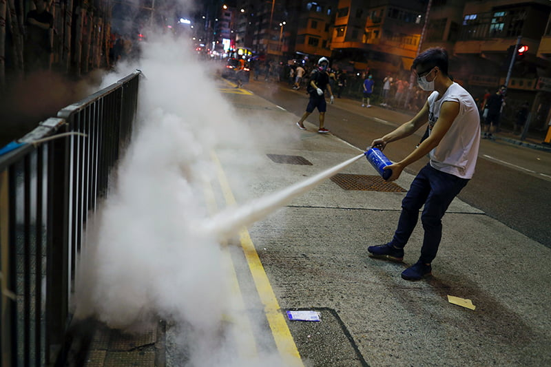 This US Factory Pays Its Workers $9.50 An Hour To Make Tear Gas For Hong Kong