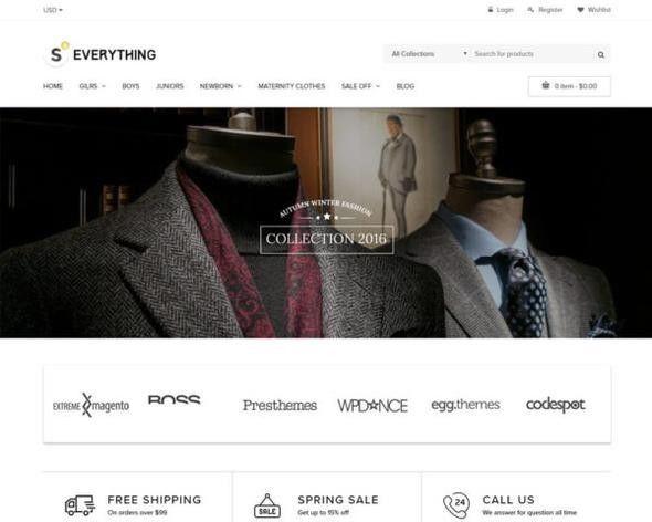 Turnkey Dropshipping Men's Fashion Shopify Website / Store