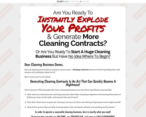 Ultimate Cleaning Business Package