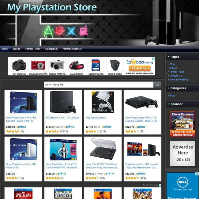 VIDEO GAME STORE - Easy-To-Operate, Highly Profitable Business Website For Sale!
